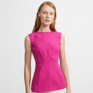 Theory pure linen paneled top size 6 NWT